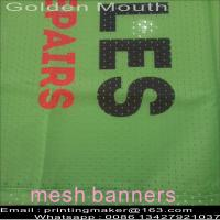 Quality Custom Size 350G PVC Vinyl Mesh Banners for sale