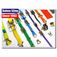 China Stainless Steel Buckled Lorry Ratchet Straps , Motorbike Tie Down Straps Flexible on sale