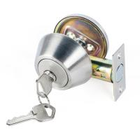 Buy High Security SUS304 Single Cylinder Deadbolt Door Locks Plated Nickel Finish at wholesale prices