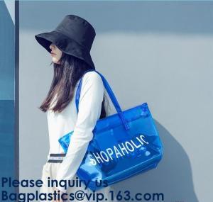 China Designer Bag,Lady Fancy Bag,Wholesale PVC Beach Bag,Women Summer Beach Bag Vinyl PVC Tote Handbags Shoulder bags on sale
