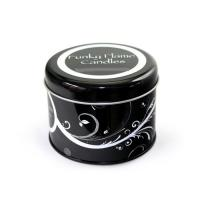 Quality round tin case for candles for sale