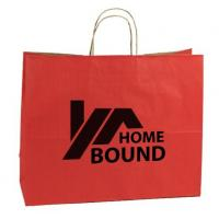 Quality Promotional Custom Printed Paper Shopping Bags With Cotton String Handles for sale