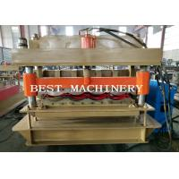 Buy cheap Guide Pillar YX-828 Glazed Roof Tile Roll Forming Machine PLC Control from wholesalers