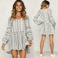 China Women Clothing 2018 Long Sleeve Cotton Summer Casual Dresses on sale