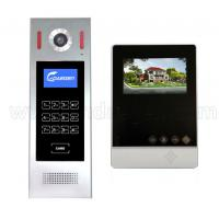 Quality 4.3 inch Handsfree color apartment home building wires video door phone video intercom system remote control for sale