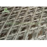 China Silver / Green Welded Razor Barbed Wire Fence Climb Proof With 100 × 100mm Hole on sale