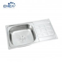 Quality CH7540B Single Bowl Sink  Stainless Steel Kitchen Sink Press Kitchen Sink for sale
