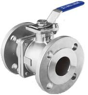 JIS Flanged Two Piece SS Ball Valve