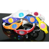 Quality Silicone Double Layer Power Energy Bracelet 3 Colors Fashion for Youth for sale