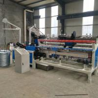Quality 3m width Fully-Automatic double wire feeding PLC Chain Link Fence Machine for sale