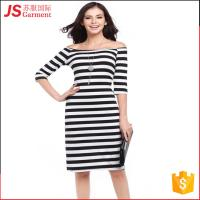 China JS 20 Top Quality Korean Stripe Bodycon Woman Dress One-Piece For Sale 731 on sale