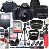 China Cheap Canon EOS Rebel T6 DSLR Camera with 18-55mm IS II Lens + Professional Bundle on sale