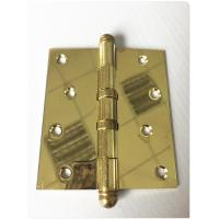 Quality Round Ball Tip Heavy Duty Door Hinges Ball Bearing Golden Polished 3.0mm for sale