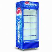 Quality 4 Shelves Commercial Refrigerator Freezer , Glass Door Merchandiser Refrigerator for sale