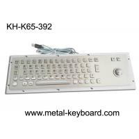 Best Ruggedized Industrial Metal SS Keyboard with Trackball For Accuate Pointing Device wholesale