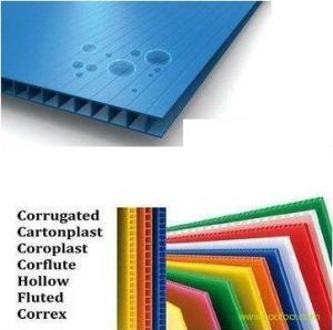 China Decorative Anti - UV Plastic PP Hollow Board Coroplast Sheets 4mm / 5mm / 6mm on sale