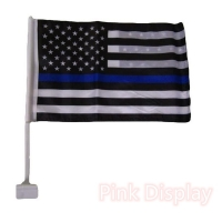 Quality Wooden Pole Double Stitched CMYK Hand Waving Flag for sale