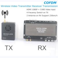 China COFDM Wireless Video Transmitter Receiver Transmission HDMI HD 1080P composite CVBS in H.264 COFDM-904T on sale