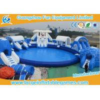 China Frozen Inflatable Amusement Park For Summer , Inflatable Bouncer And Slide For Kids on sale