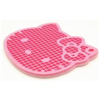 Quality Hello Kitty Kitchen Silicone Pod Holder, Green Material Silicone Cooking Pad for sale