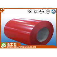 Quality AZ150 Red PPGL Color Steel Coil Or Plate Hot-Dip Galvalume 508mm Diameter for sale