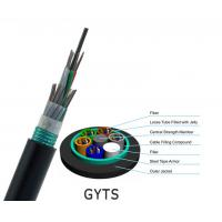 Best Aerial Duct Corrugated Single Mode Armored Fiber Cable , G652D 144 Core Fiber Optic Cable wholesale