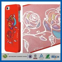 Gold Siliver Foil Bling Flowers Snap-On Apple Iphone 5S Smartphone Back Cover