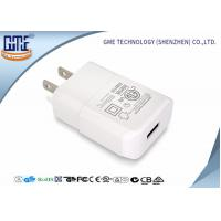 Quality Intertek Pure White US Plug Wall USB Charger 5V 2A with One Port , Small Size for sale