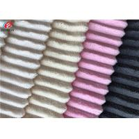 Quality Minky Plush Fabric Short Pile Fabric 100% Polyester Strip Design Velboa Fabric for sale