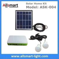 China DC Indoor Solar Home Lighting System Kit With 2 Bulbs 5M Wire Solar Emergency Camping Light Can Charge Mobile Cell Phone on sale