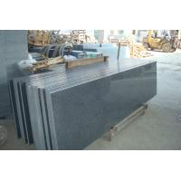 Quality Natural Granite Stair Treads And Risers , Black Gray Granite Slabs For Stairs for sale