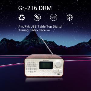 Quality Whip Antenna Am FM USB 4W DRM Desktop Radio Player for sale