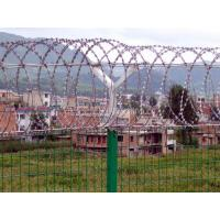 Quality Zinc Welded Spiral Razor Barbed Wire Mesh 450mm Outside For Garden for sale