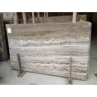 Quality Cheap Import Silver Dark Grey Vein Cut Travertine Marble In China Marble Window Sills for sale