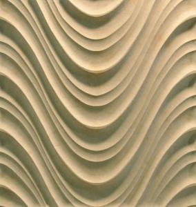 Quality 3D Cnc Artificial Stone Wave Panel for sale