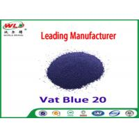 Quality C I Vat Blue 20 Dark Blue Bo Dyeing Of Cotton With Vat Dyes AAA Credit for sale