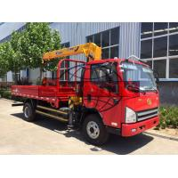 Quality 4 X 2 8 Tons / 3 Ton Truck Mounted Crane , 143kw Power Truck Loader Crane for sale