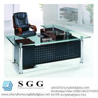 Quality CE& SGS certificated Excellence quality big office glass table top for sale