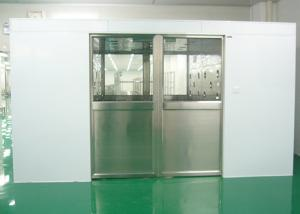 Quality Three Side Blowing Auto Sliding Door Air Shower Tunnel Class 100 Cleanliness Level for sale