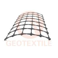 Quality Black Biaxial Soil Stabilization Grid , 3.9m * 100m Pp Woven Geotextile for sale