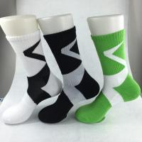 China Yellow Anti - Foul Cotton Ankle Socks , Black / Green Elastane Mens Short Ankle Socks on sale