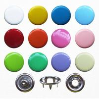 10mm Various Colors Snap Button for Garment; Dyed Capped Prong Fastener; Enamel Capped Prong Buttons