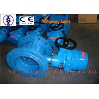 Quality Ductile Iron Double Flanged Butterfly Sluice Valve For Water , EPDM Gasket Sealing for sale