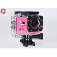 "30fps 2"" Inch 4k Sports Action Camera With Remote Control WIFI Full HD Mini Pink"