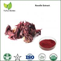 Quality Hibiscus Sabdariffa P.E.,Roselle Flower Extract red color,Roselle Extract Powder for sale