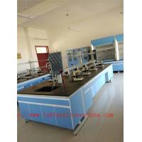 Quality 3750 mm  Wood Frame Blue /  White Science Lab Cabinets  Furniture For High School Lab for sale