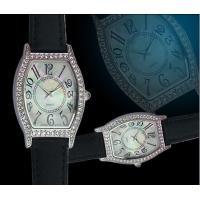 Best Ladies Leather Quartz Analogue Wrist Watch With Japan PC Movement wholesale