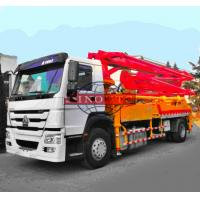 Quality Mobile Concrete Transport Truck 4x2 Concrete Boom Pump Truck 32 / 35m Boom Height for sale