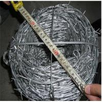 China 12*14 Bwg  60g High Zinc Coated Galvanized Barbed Wire Positive Used With Protective Fence on sale