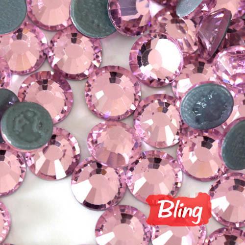 Buy SS20 Hot-Fix Rhinestones Light Rose; Iron-On Diamond Beads at wholesale prices